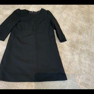 ZARA WOMAN BLACK DRESS ZIP BACK SZ M